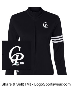 CPclub Adidas - Womens ClimaLite 3-Stripes French Terry Full-Zip Jacket Design Zoom